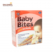 Baby Bites Carrot Rice Rusks 24 Rusks